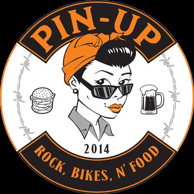 Logo Pin Up - Rock, Bikes N'Food
