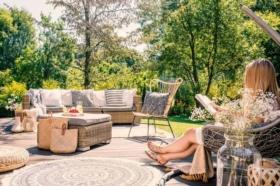 Terrasse: ein Highlight für die schönen Tage