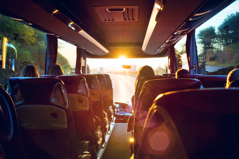 Traveling by coach