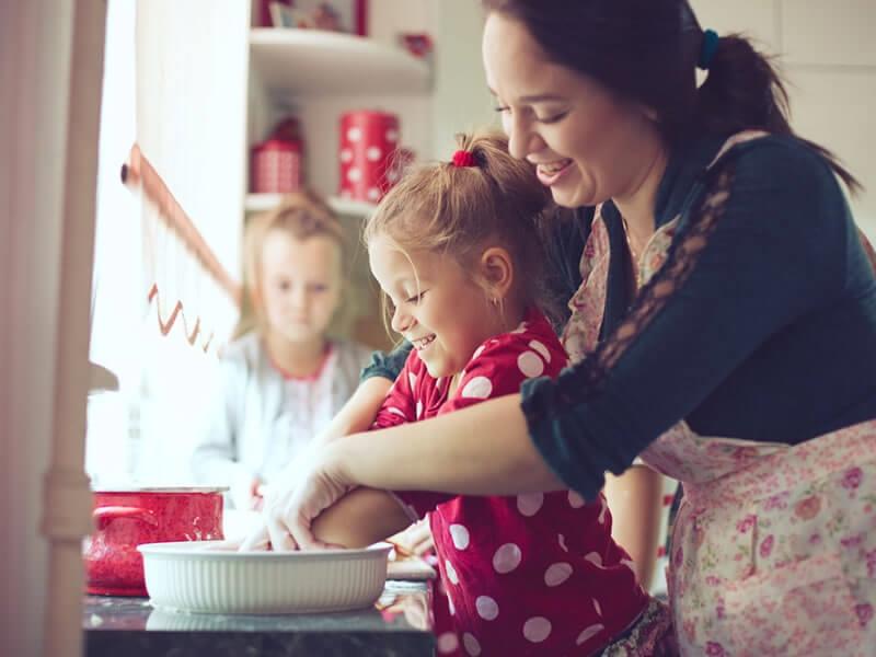 Kochen mit Ihrem Kind: 12 Tipps folgen