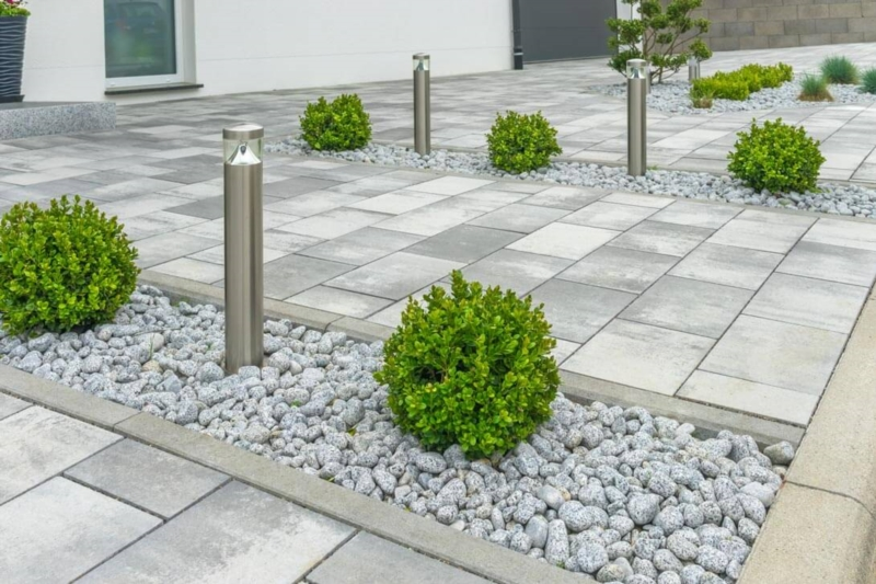 Lay out paved exteriors