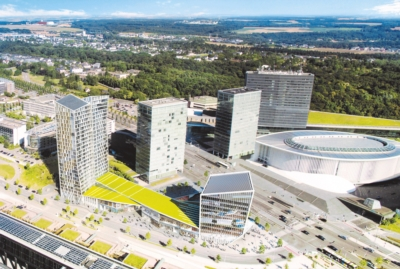 Complexe immobilier Infinity au Kirchberg