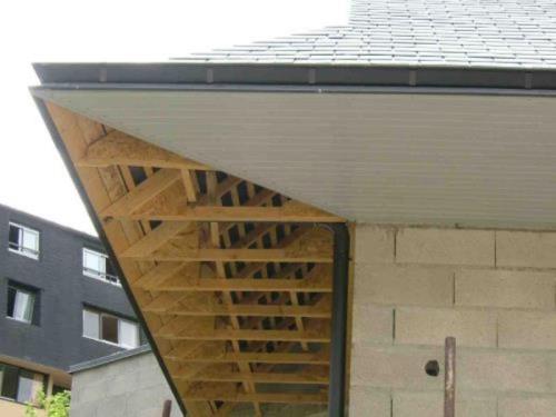 Dessous de toit en PVC