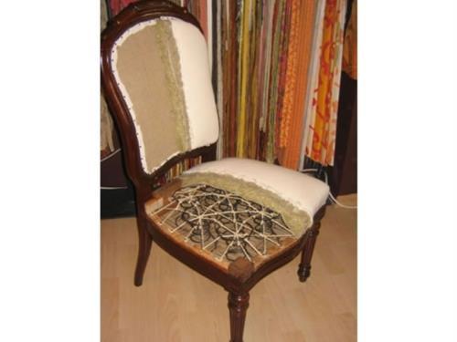 Garnissage d'une chaise