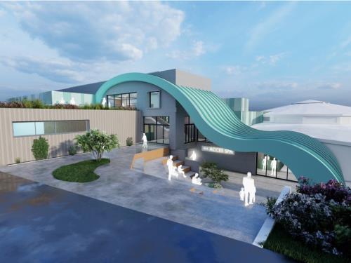 Extension d'une piscine intercommunale, Redange (Lu)