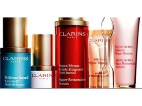Tous vos produits Clarins à -20% et le 9ème produit GRATUIT