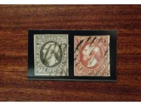 timbres luxembg no 1 et 2