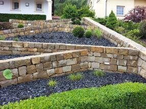 Réalisation de murs secs