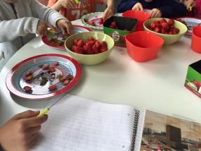Glace aux fraises