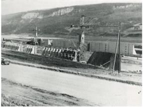Construction de la darse portuaire