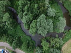 Le cours de l'eau de la Chiers