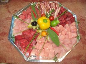 Plateau pour fondue à la viande