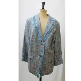 Modèle Daisy : veste bleu ocre franse
