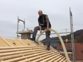 Einblasdämmung für das Dach