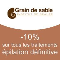 -10% sur tous les traitements épilation définitive