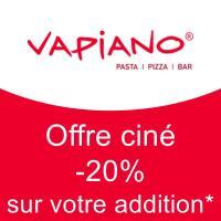 Offre ciné -20% sur l'addition